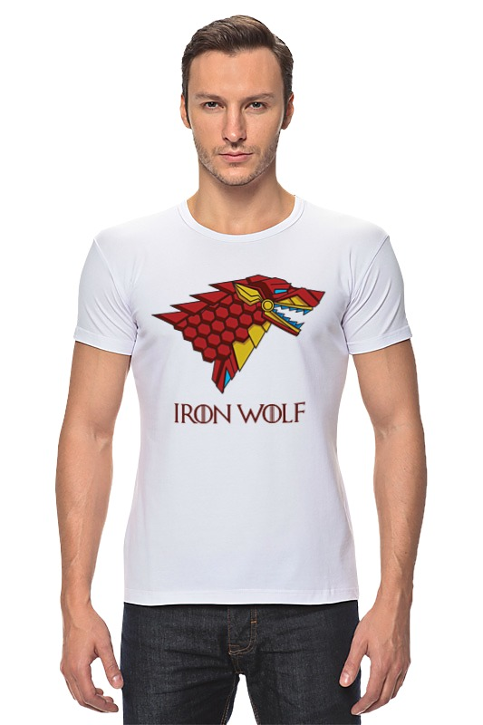 Футболка Стрэйч Printio Iron wolf (stark x iron man) футболка классическая printio stark bucks coffee iron man