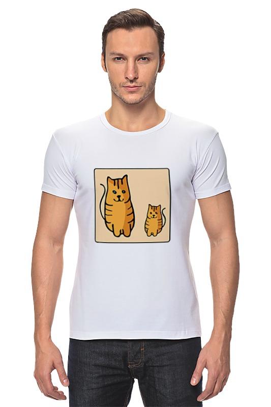 Футболка Стрэйч Printio Два котика, смотрящие друг на друга неизвестный друг