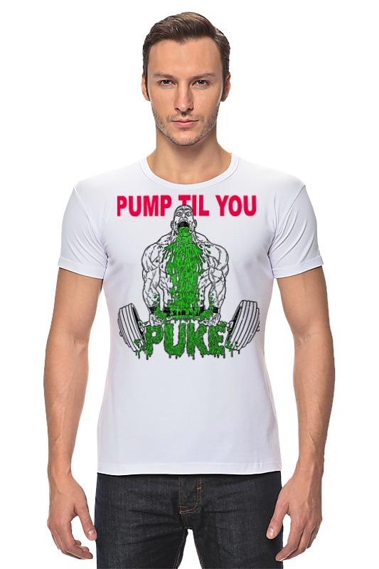 Футболка Стрэйч Printio Pump til you чулки seven til midnight большого размера с кружевной резинкой xl телесный