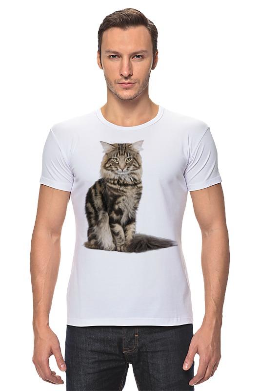 Футболка Стрэйч Printio Милый пушистый кот куплю кота мейн кун полукровки за 1000 рублей в москве