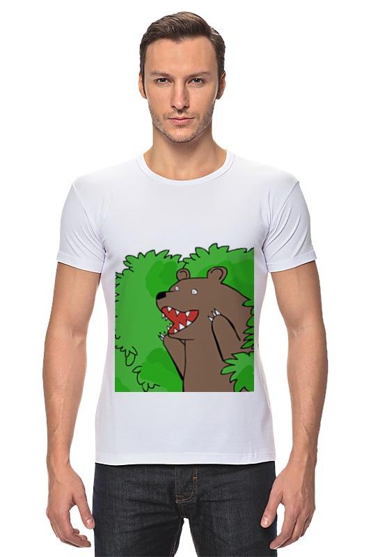 Футболка Стрэйч Printio Медведь из кустов андрей кустов