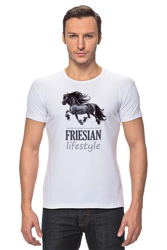 Футболка Стрэйч Printio Friesian купить щебень на севере москвы