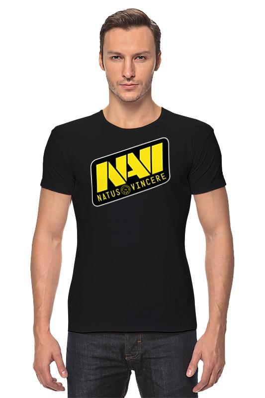 Футболка Стрэйч Printio Natus vincere logo (black)