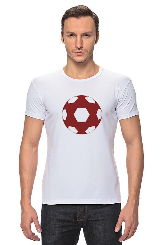 Футболка Стрэйч Printio Красный мяч мяч сувенирный 2k sport patriot цвет белый синий красный размер 1
