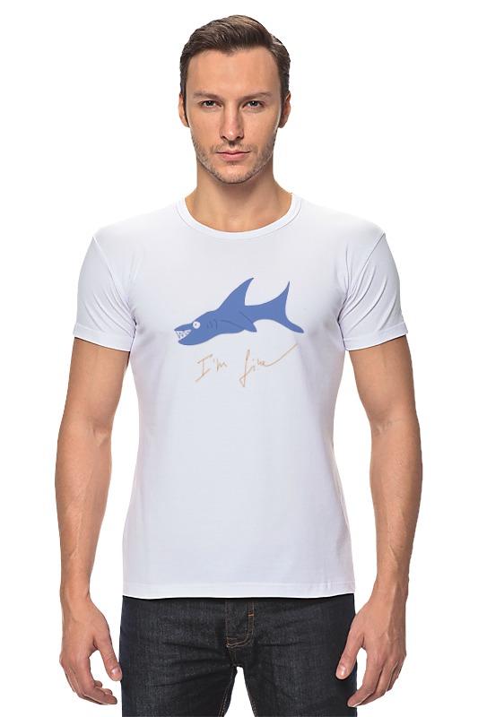 Футболка Стрэйч Printio Акула футболка рингер printio акула