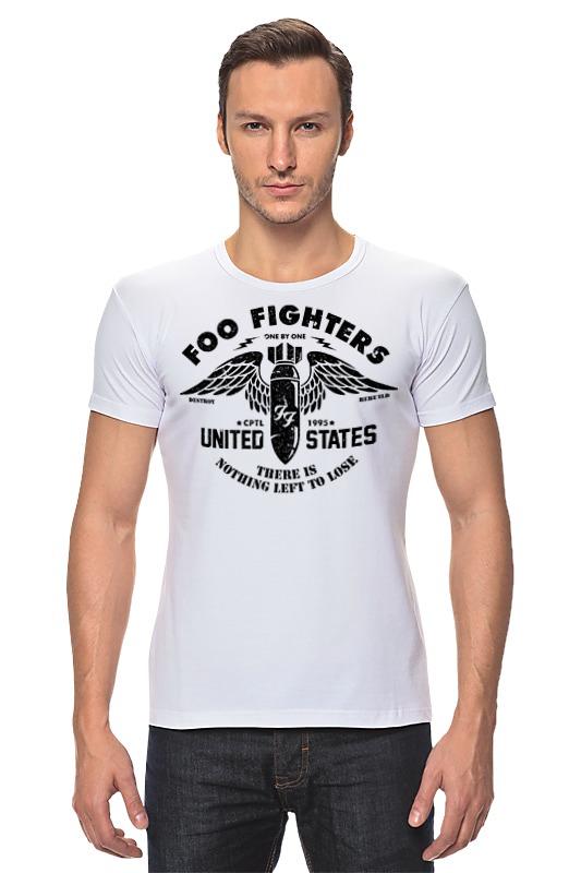 Футболка Стрэйч Printio Foo fighters футболка с полной запечаткой мужская printio foo fighters