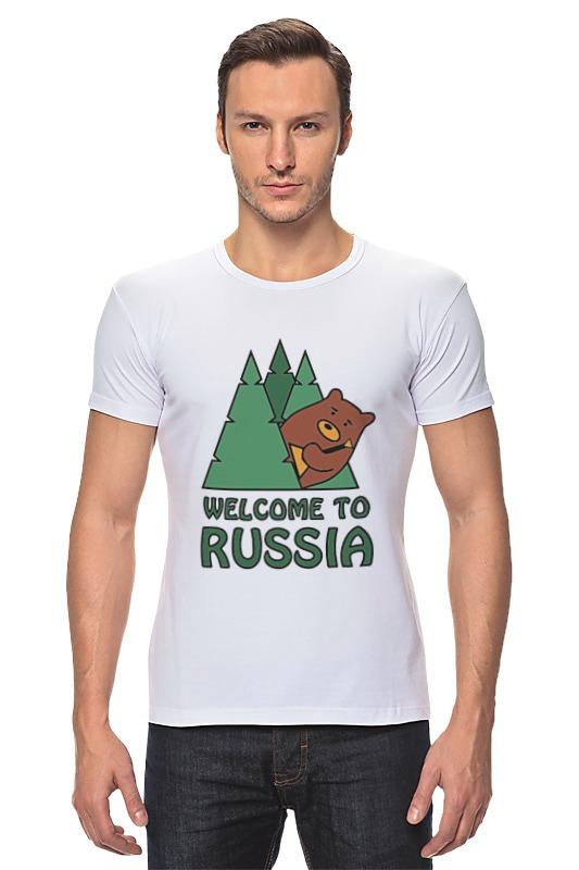 Футболка Стрэйч Printio Welcome to russia футболка стрэйч printio welcome to russia