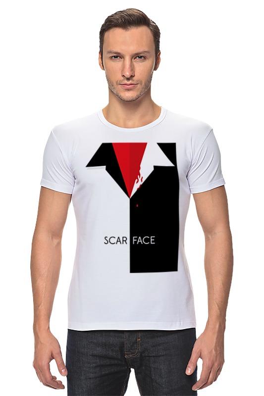 Футболка Стрэйч Printio Лицо со шрамом (scarface) лицо со шрамом blu ray
