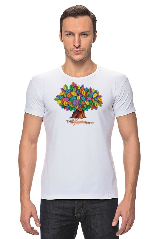 Футболка Стрэйч Printio Icalistini the happiness tree дерево счастья happiness толстовка