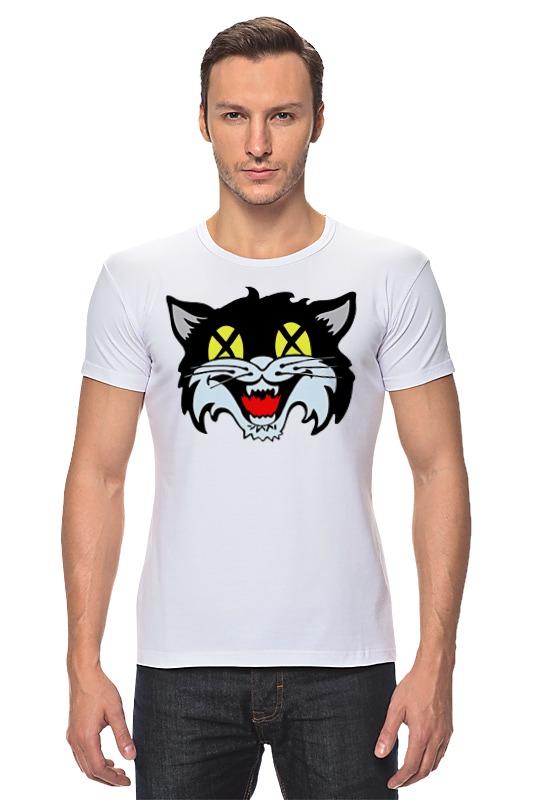 Футболка Стрэйч Printio Кот (cat)
