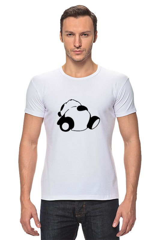 Футболка Стрэйч Printio Спящая панда спящая красавица
