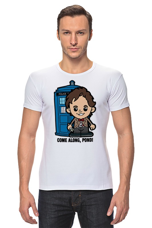 Футболка Стрэйч Printio Time lord (доктор кто) футболка для беременных printio time lord доктор кто