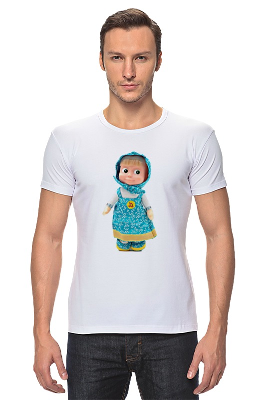 Футболка Стрэйч Printio Кукла маша из мульта. смешная озорная. .