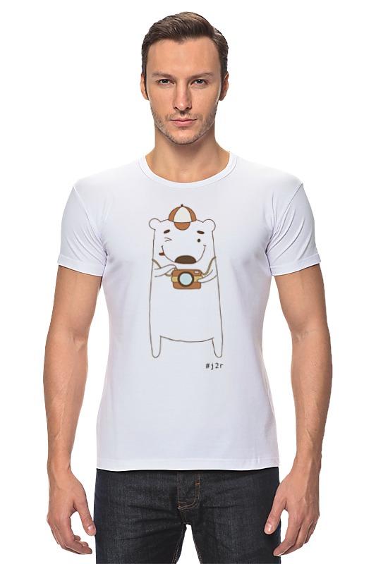 Футболка Стрэйч Printio Мишка бо фотограф футболка для беременных printio мишка me to you