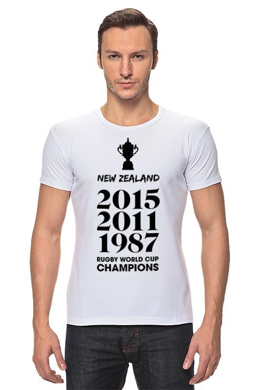 Футболка Стрэйч Printio Чемпионы регби (новая зеландия) костюм регби