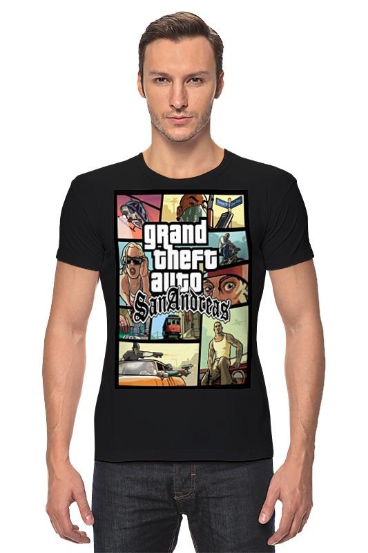 Футболка Стрэйч Printio Grand theft auto san andreas футболка классическая printio grand theft auto 5