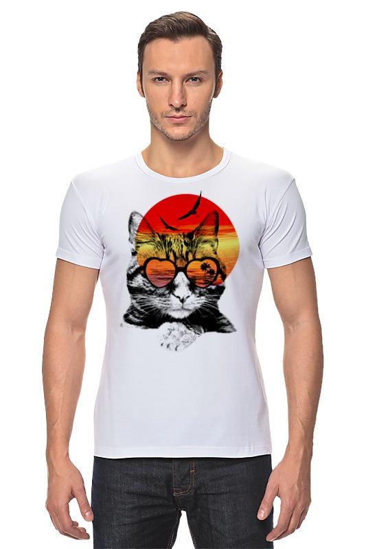 Футболка Стрэйч Printio Солнечный кот футболка стрэйч printio черно белый кот