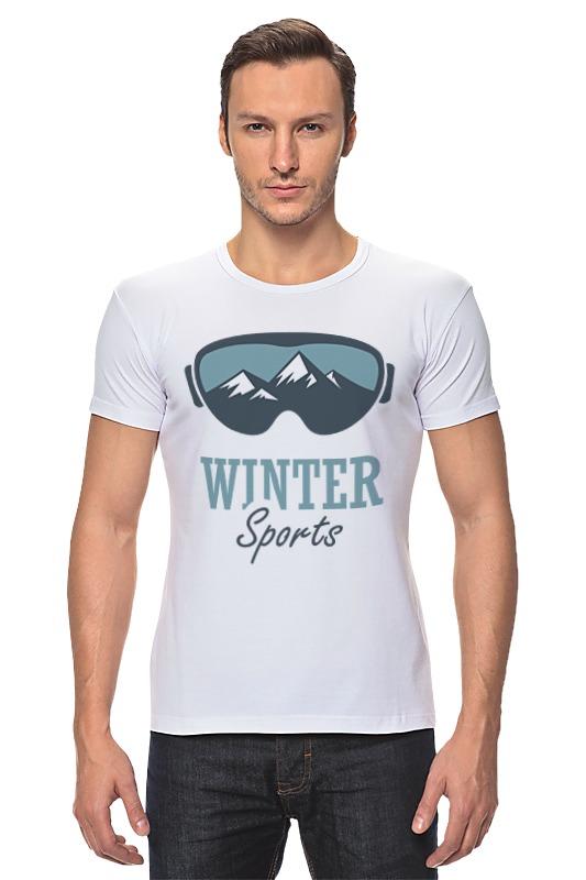 Футболка Стрэйч Printio Зимний спорт (winter sport)