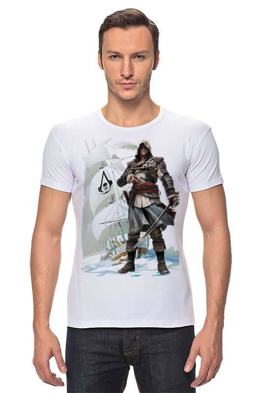 Футболка Стрэйч Printio Assassin's creed iv black flag византийская армия iv xiiвв