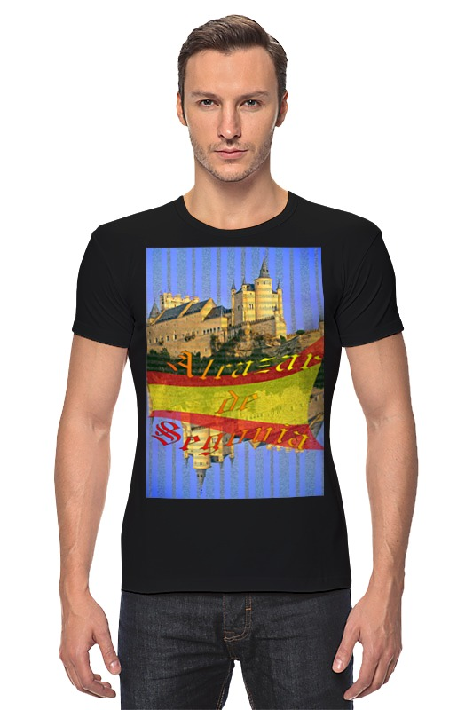 Футболка Стрэйч Printio Средневековой испанский замок сеговия. испанский топор truper ml 4m 14972