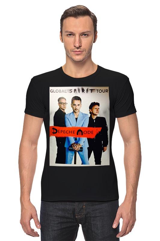 Футболка Стрэйч Printio Depeche mode - global spirit tour depeche mode – spirit cd
