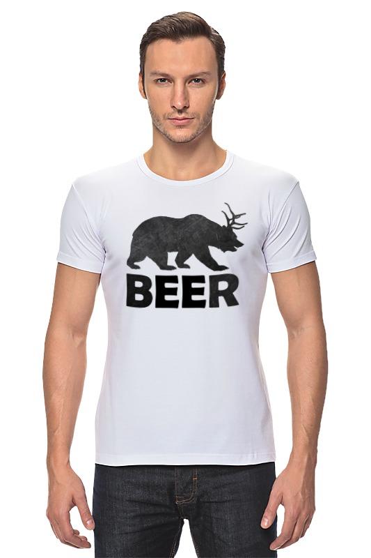 Футболка Стрэйч Printio Beer (bear) лонгслив printio bear beer медведь и мед