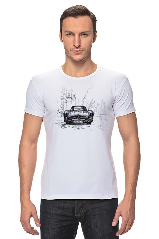 Футболка Стрэйч Printio Mercedes-benz 300sl мерседес 300sl
