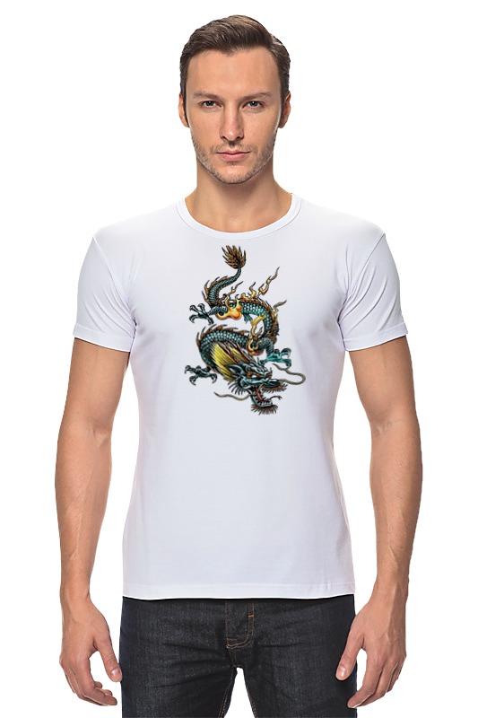 Футболка Стрэйч Printio Китайский дракон силикон китайский в розницу