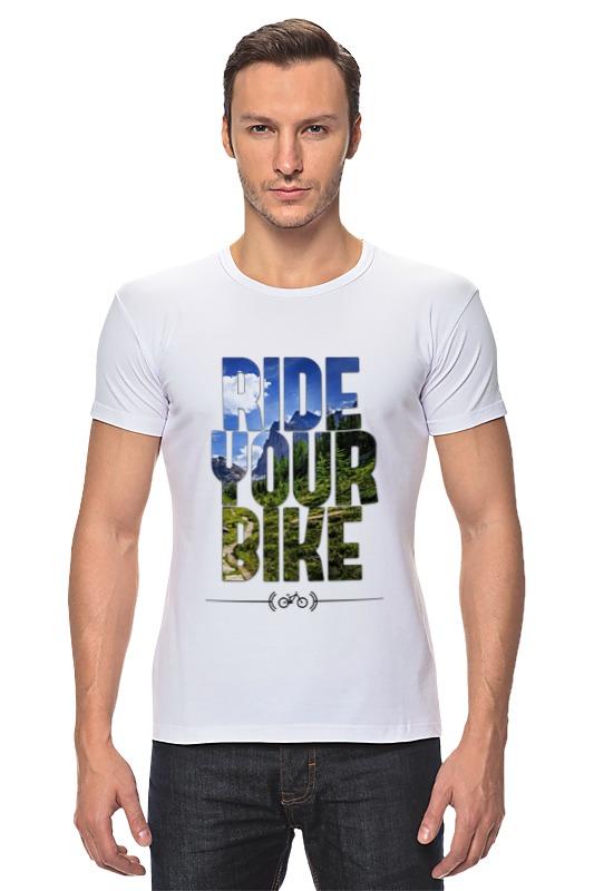 Футболка Стрэйч Printio Ride your bike (горы) футболка стрэйч printio hard ride