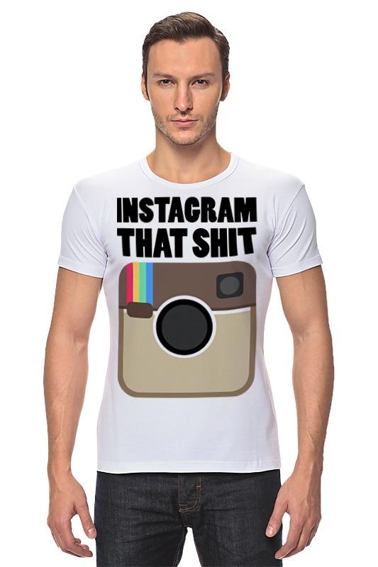 Футболка Стрэйч Printio Instagram instagram socialmatic camera цена