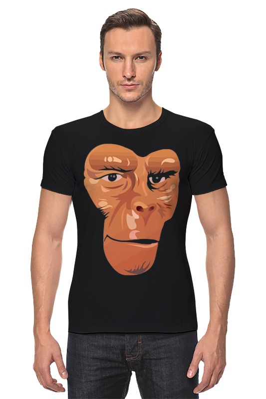 Футболка Стрэйч Printio Обезьяна (планета обезьян) футболка классическая printio three apes