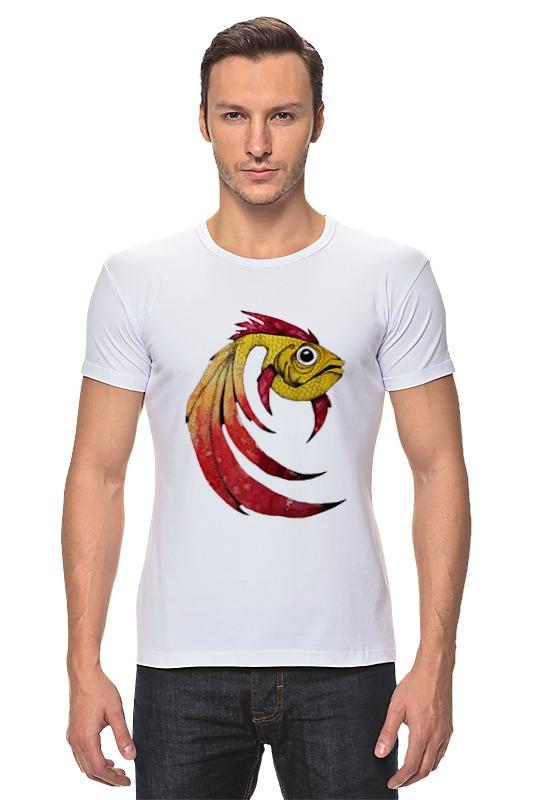 Футболка Стрэйч Printio Золотая рыбка футболка стрэйч printio кот и золотая рыбка
