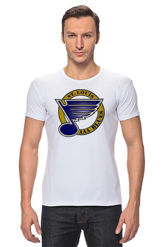 Футболка Стрэйч Printio St louis blues / nhl usa футболка wearcraft premium printio los angeles kings nhl usa