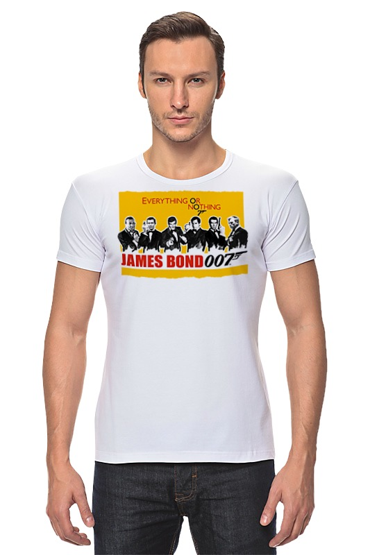Футболка Стрэйч Printio James bond james bond  nobody lives for ever