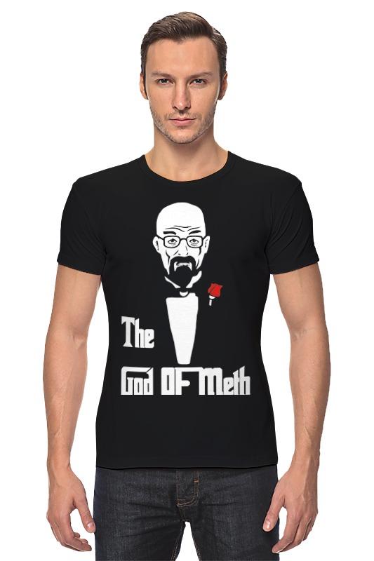 Футболка Стрэйч Printio God of meth (breaking bad) футболка wearcraft premium slim fit printio god of meth breaking bad