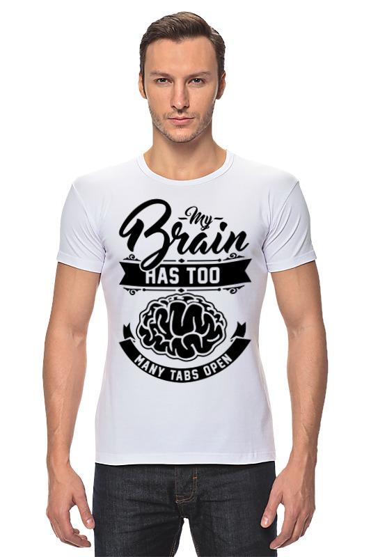 Футболка Стрэйч Printio Мозг (brain) роман воликов мозг партии