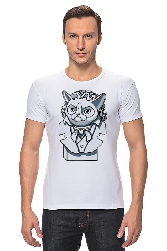 Футболка Стрэйч Printio Грустный кот футболка стрэйч printio черно белый кот
