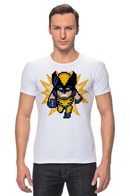 Футболка Стрэйч Printio Росомаха (люди икс) футболка классическая printio росомаха люди икс