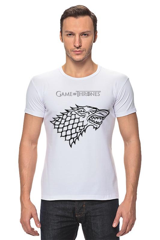 Футболка Стрэйч Printio Game of thrones :stark футболка для беременных printio game of thrones stark