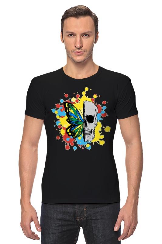 Футболка Стрэйч Printio Череп и бабочка футболка классическая printio череп и бабочка