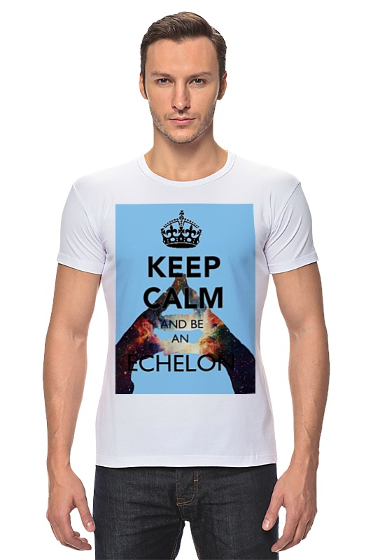 Футболка Стрэйч Printio Keep calm and be an echelon футболка стрэйч printio keep calm and listen to 30stm