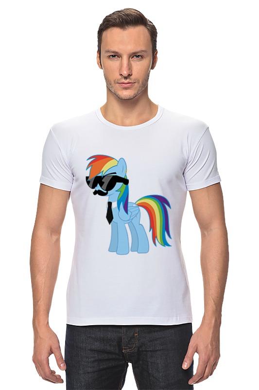 Футболка Стрэйч Printio My little pony - rainbow dash (радуга) мульти пульти мягкая игрушка принцесса луна 18 см со звуком my little pony мульти пульти