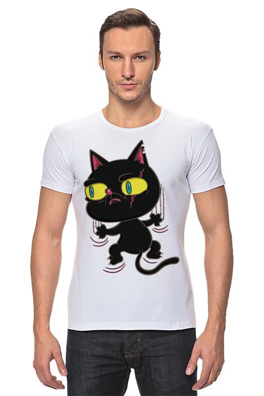 Футболка Стрэйч Printio Черный кот футболка стрэйч printio черно белый кот