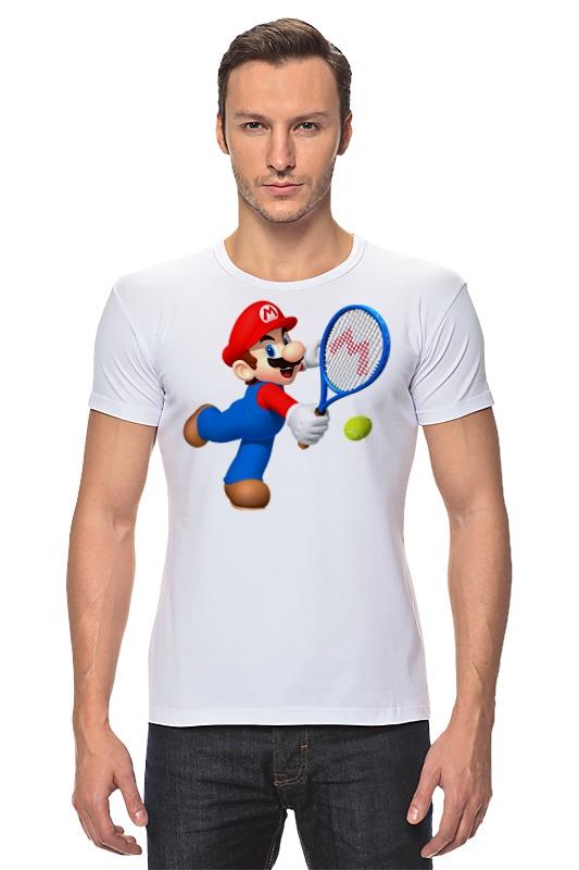Футболка Стрэйч Printio Super mario tennis mario tennis open