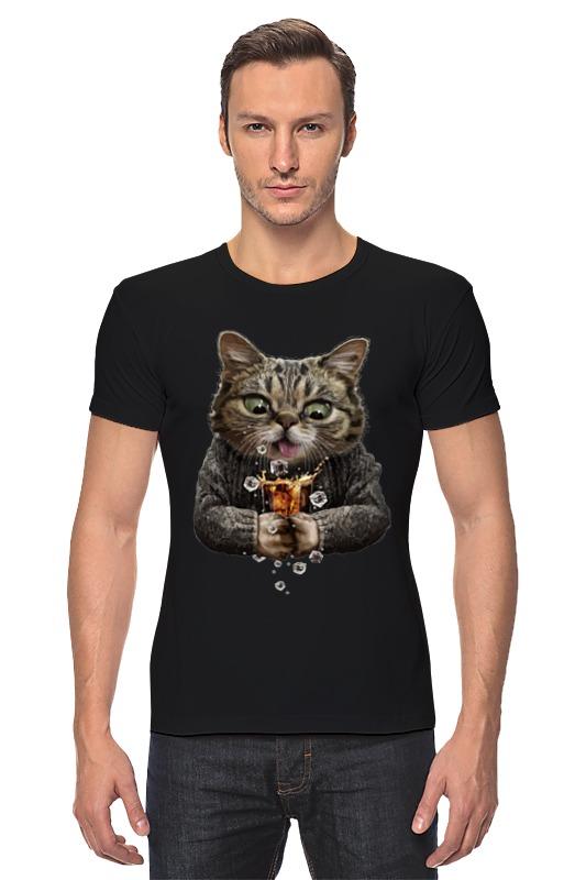 Футболка Стрэйч Printio Whiskey cat