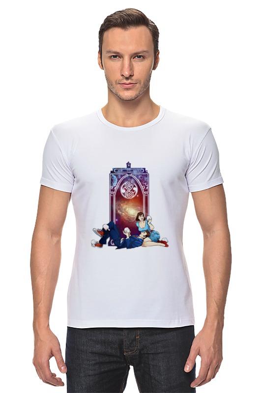 Футболка Стрэйч Printio Десятый доктор и пери (tenth doctor and peri) футболка wearcraft premium printio десятый доктор tenth 10th doctor