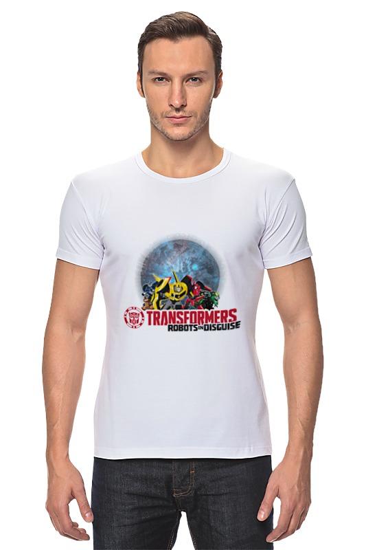 Футболка Стрэйч Printio Трансформеры. роботы под прикрытием hasbro transformers c0624 трансформеры роботы под прикрытием тим комбайнер