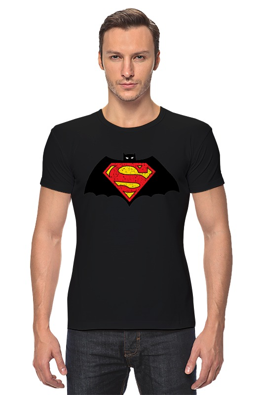 Футболка Стрэйч Printio Бэтмен против супермена футболка классическая printio бэтмен против супермена