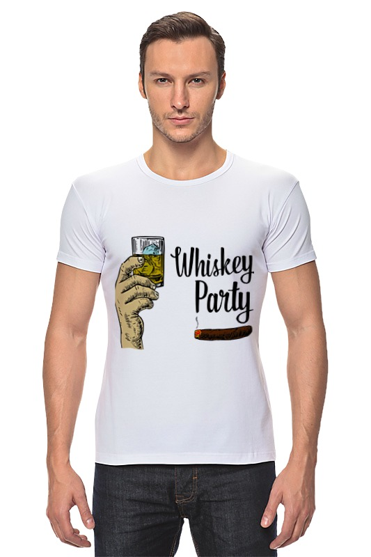 Футболка Стрэйч Printio Whiskey party zonesun manual paste filling machine liquid filling machine cream bottle vial small filler sauce jam nial polish 0 50ml