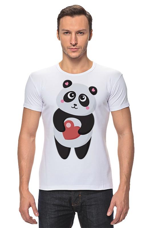 Футболка Стрэйч Printio Панда с сердечком позиционеры для сна candide позиционер с подголовником воздухопроницаемая панда air